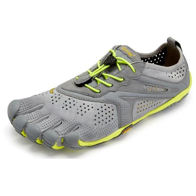 [해외]비브람 FIVEFINGERS V Run 6137673572 Grey / Yellow