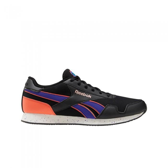 [해외]리복 Royal Classic Jogger 3 Clip 6137938940 Black / Team Purple / Semi Orange Flare