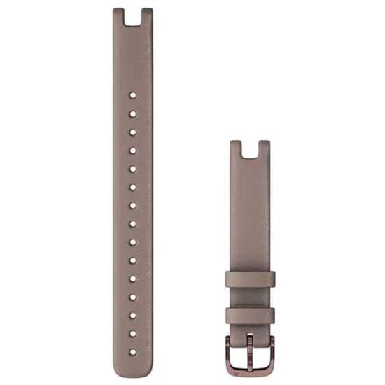 [해외]가민 Lily Leather Strap L 14 mm 7137988283 Paloma / Dark Bronze