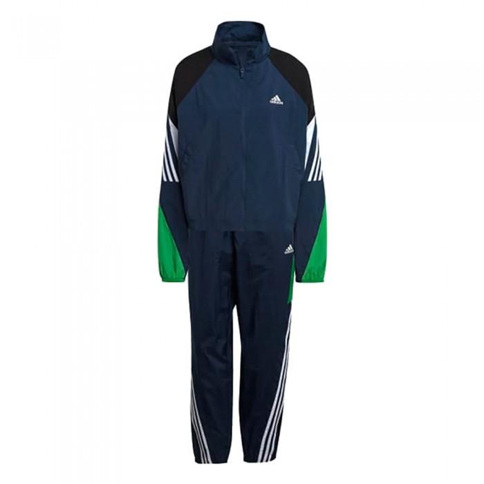 [해외]아디다스 Sportswear Game-Time Woven 7137913474 Crew Navy / Vivid Green / White