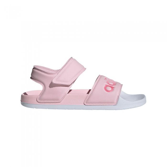[해외]아디다스 Adilette Flip Flops 6137891887 Clear Pink / Cherry Met. / Ftwr White