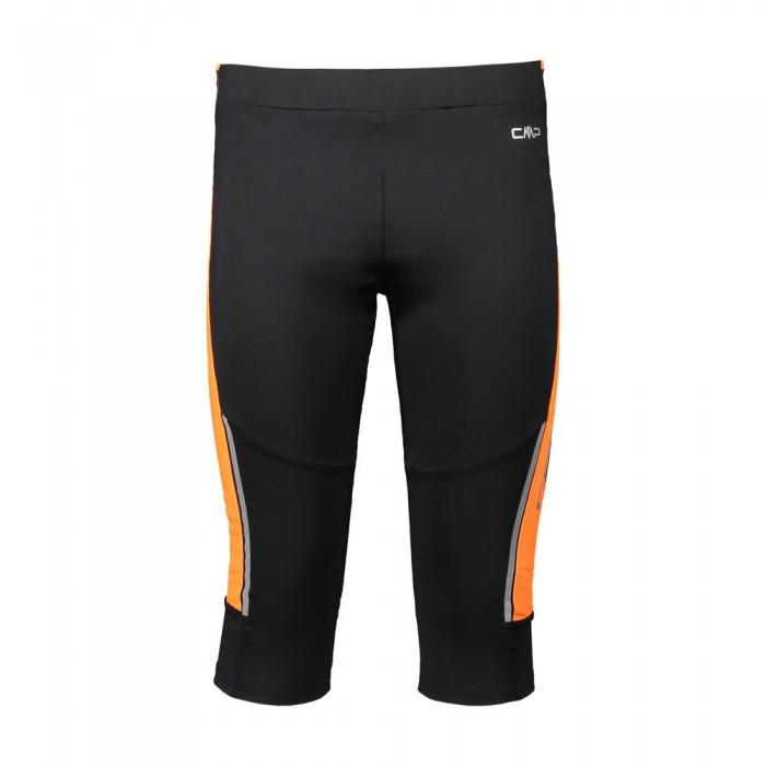 [해외]CMP 3/4 Pant 6138011518 Black / Flash Orange