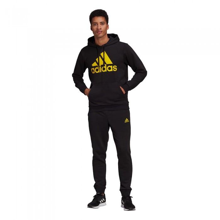 [해외]아디다스 Aeroready Essentials Kangaroo Pocket Big Logo 6137913422 Black / Yellow / Black / Yellow