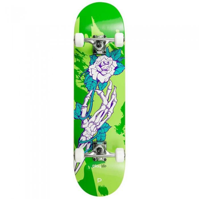 [해외]PLAYLIFE Homegrown 8 Skateboard 14137848407 Green / White