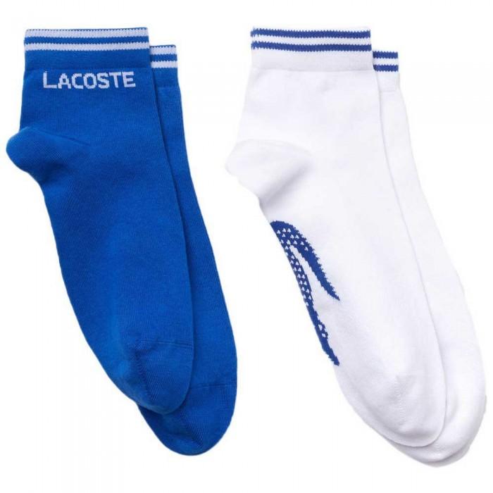 [해외]라코스테 Sport Cotton 2 Pair 12137944651 Lazuli / Blanc