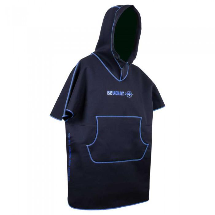 [해외]부샤 Poncho 10137861732 Black / Blue Deep