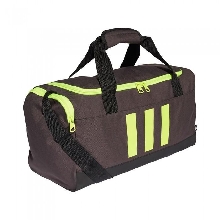 [해외]아디다스 Essentials 3-Stripes Duffel 25L 6137894481 Dgh Solid Grey / Black / Solar Yellow