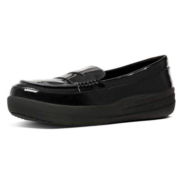 [해외]핏플랍 F Sporty Leather Penny Loafers Black
