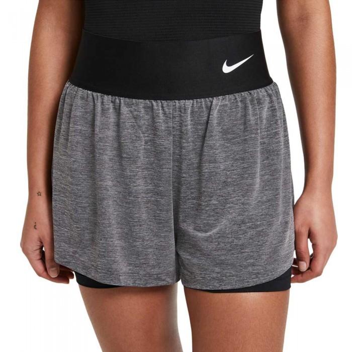[해외]나이키 Court Advantage Short Pants 12137982787 Black / Black Heather / Black / White