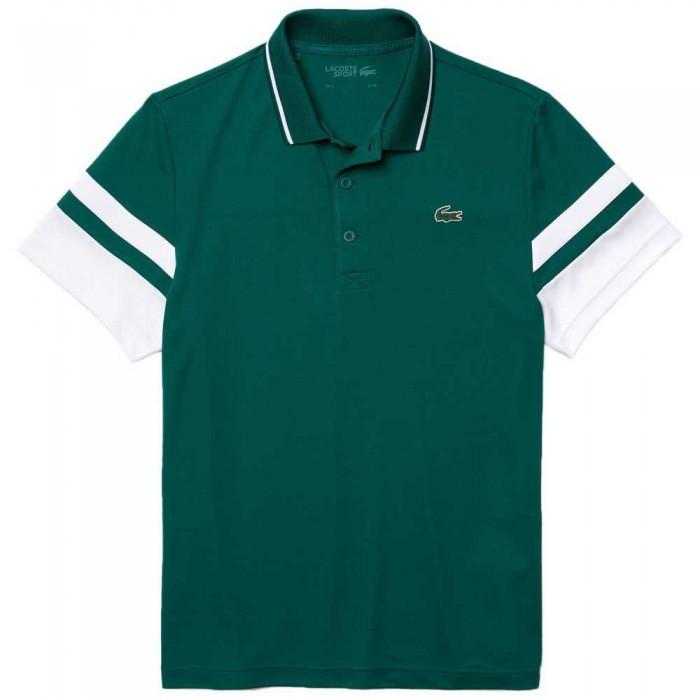 [해외]라코스테 Sport Striped Sleeves Breathable Piqu? 7137944551 Bouteille / Blanc