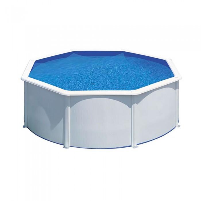 [해외]GRE POOLS Bora Bora Steel Walls Pool 6136447600 White / Blue