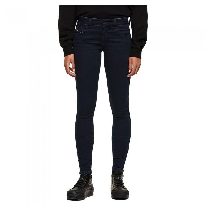 [해외]디젤 Slandy Low Zip Jeans Indigo