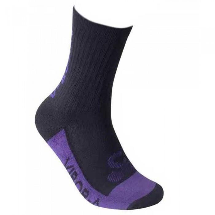 [해외]VIBORA Socks 12138025102 Black / Purple