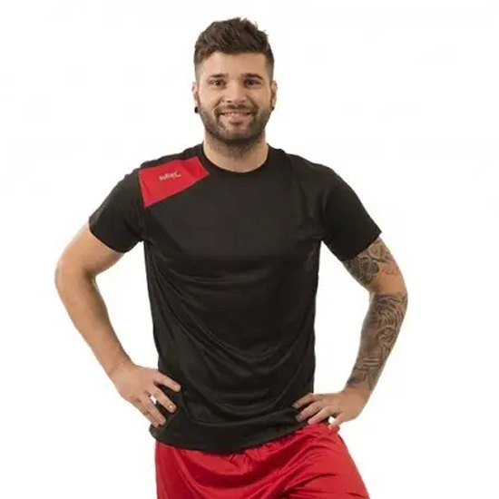 [해외]SOFTEE Full Short Sleeve T-Shirt 12138024933 Black / Red