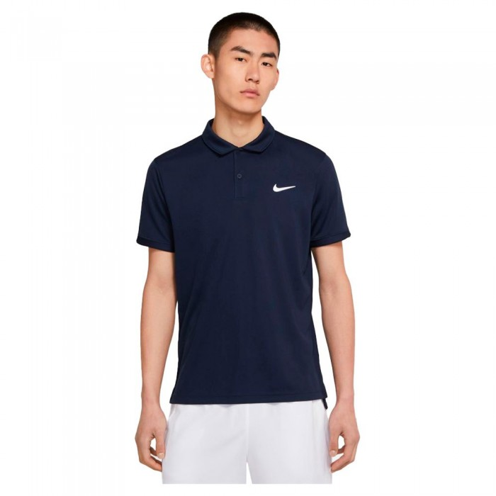 [해외]나이키 Court Dri Fit Victory Short Sleeve Polo Shirt 12137982979 Obsidian / White