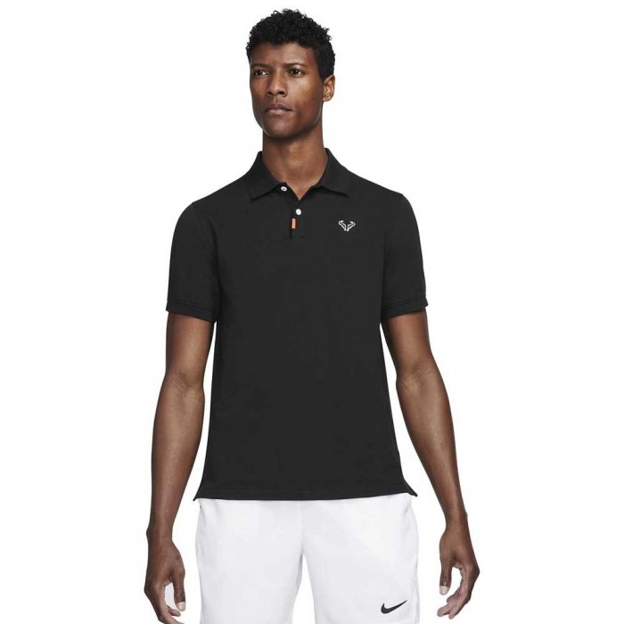 [해외]나이키 Court The Rafa Slim Fit Short Sleeve Polo Shirt 12138029649 Black / White / Black