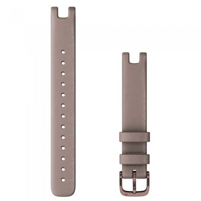 [해외]가민 Lily Leather Strap 14 mm 7137988282 Paloma / Dark Bronze