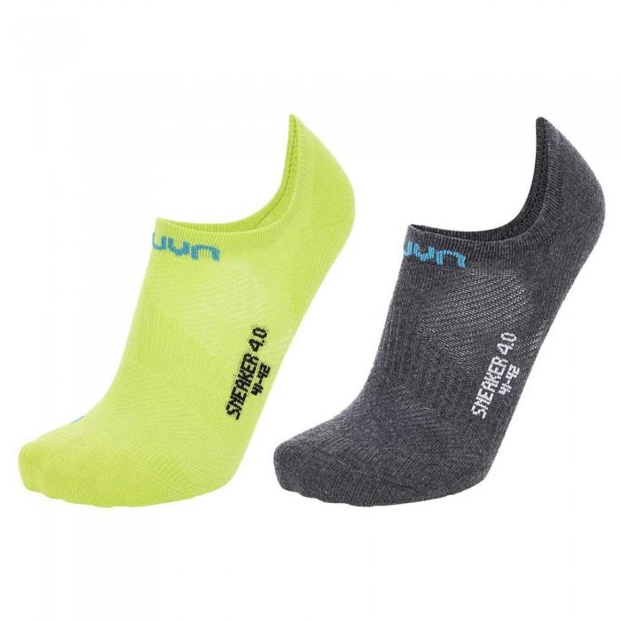 [해외]UYN Sneaker 4.0 2 Pairs 7138024784 Anthracite Mel / Lime