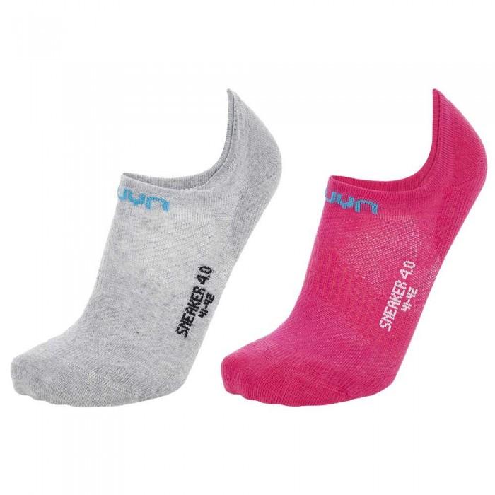 [해외]UYN Sneaker 4.0 2 Pairs 7138024786 Light Grey Mel / Pink