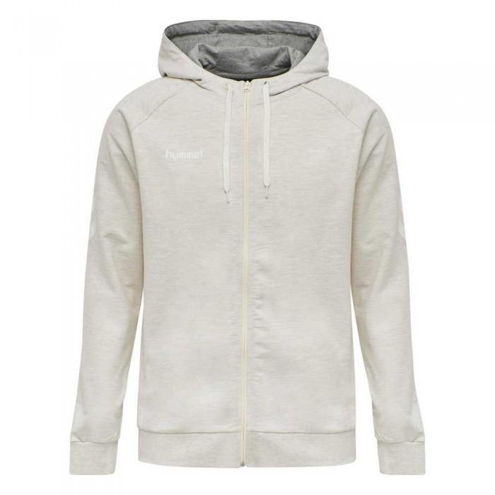 [해외]험멜 Go Cotton Full Zip Sweatshirt 7138055582 Egret Melange
