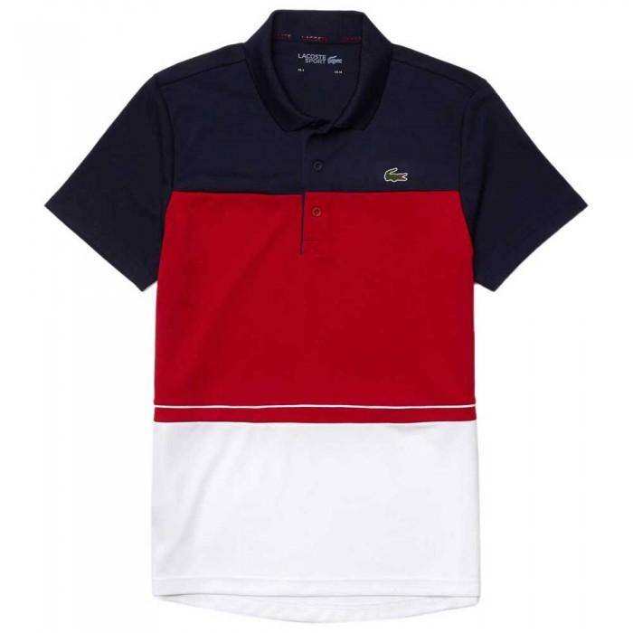 [해외]라코스테 Sport Lettered Breathable ColorBlock 7137944510 Marine / Rubis-Blanc
