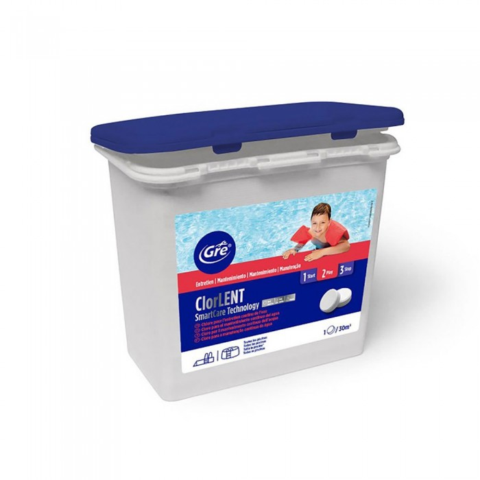 [해외]GRE POOLS Trichlorine 250g 1kg 6138050858 White