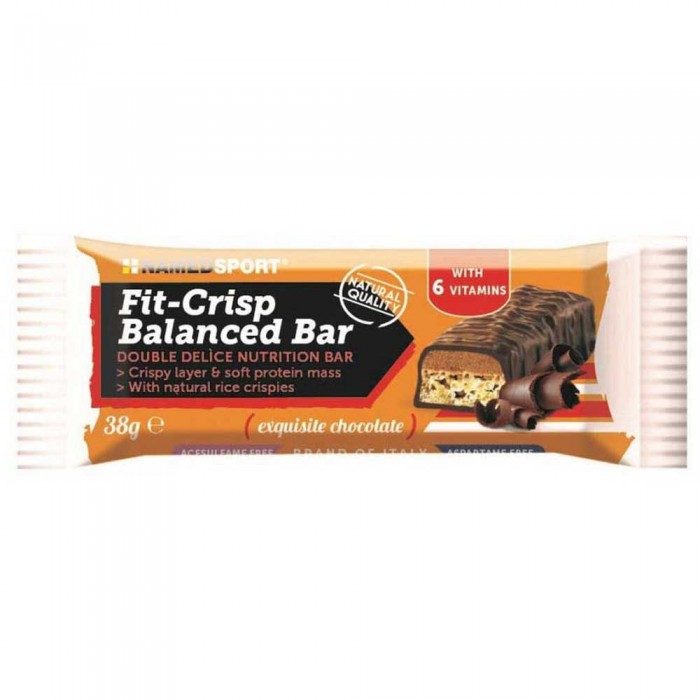 [해외]NAMED SPORT Fit Crisp Balanced 38gr 24 Units Chocolate 14137002496 Chocolate