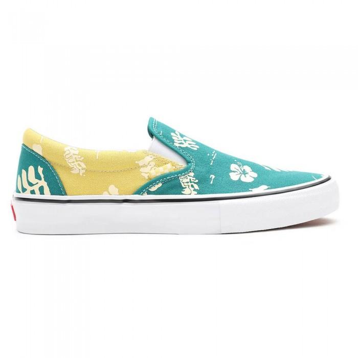 [해외]반스 Skate Slip-On 14137883093 Aloha Marine / Gold