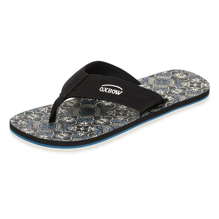 [해외]OXBOW Vlatan Textile Strap Flip Flops 14137928384 Noir