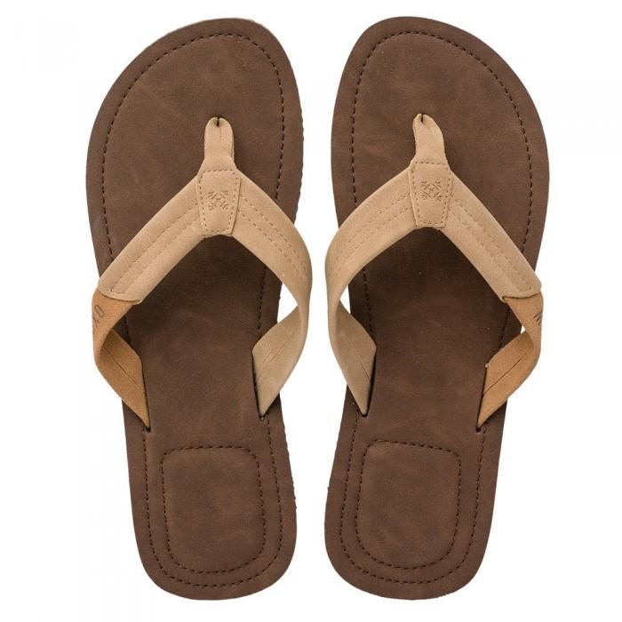 [해외]OXBOW Vanda Leather-Like Flip Flops 14137928392 Cachou