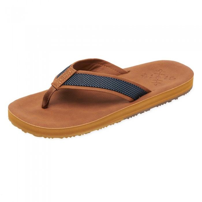 [해외]OXBOW Vasan Molded Leather-Like Flip Flops 14137928395 Coffee