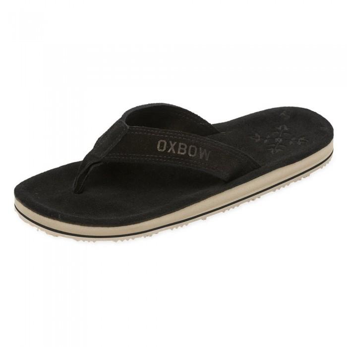 [해외]OXBOW Venty Molded Sueded Flip Flops 14137928399 Noir