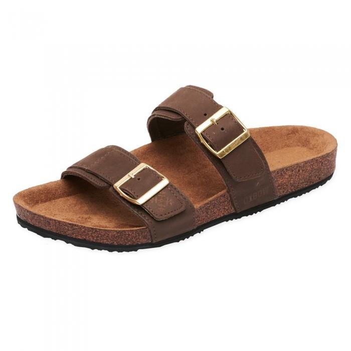 [해외]OXBOW Verak Double Strap Open Toe With Buckle Flip Flops 14137928406 Dark Brown