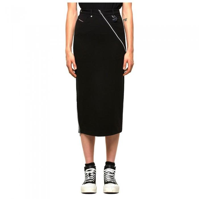 [해외]디젤 Cross Skirt Black Black Black