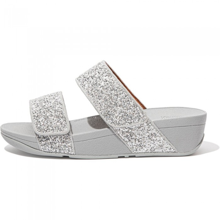 [해외]핏플랍 Mina Glitter Mix Flip Flops Silver