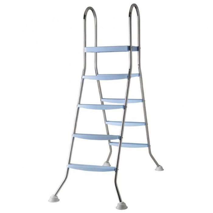 [해외]GRE Ladder 2x4 Steps And Platform 6136447643 Silver / Blue