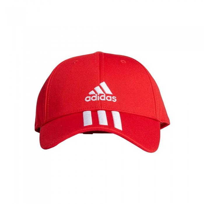 [해외]아디다스 Baseball 3 Stripes 7137894395 Vivid Red / White / White