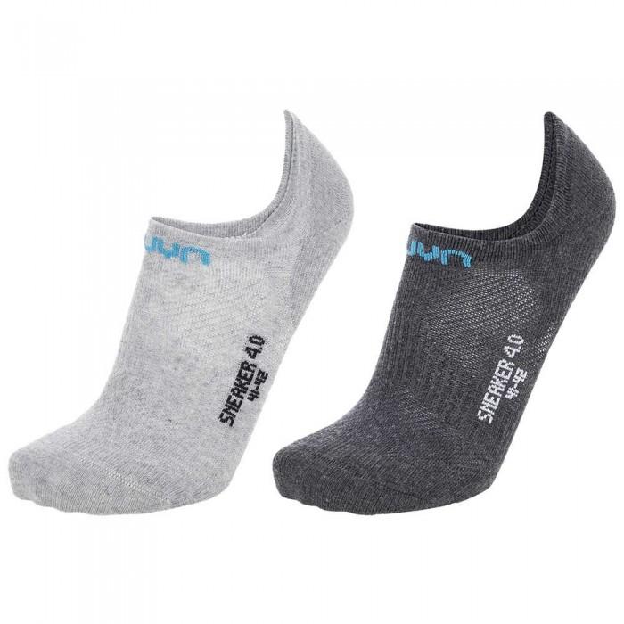 [해외]UYN Sneaker 4.0 2 Pairs 7138024783 Anthracite Mel / Light Grey Mel