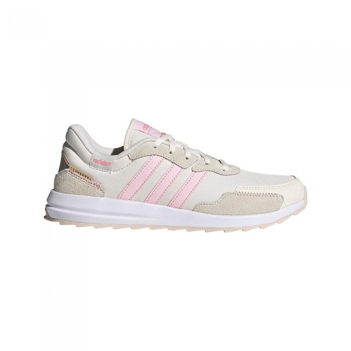 [해외]아디다스 Retrorun 6137891918 Ftwr White / Clear Pink / Iridescent