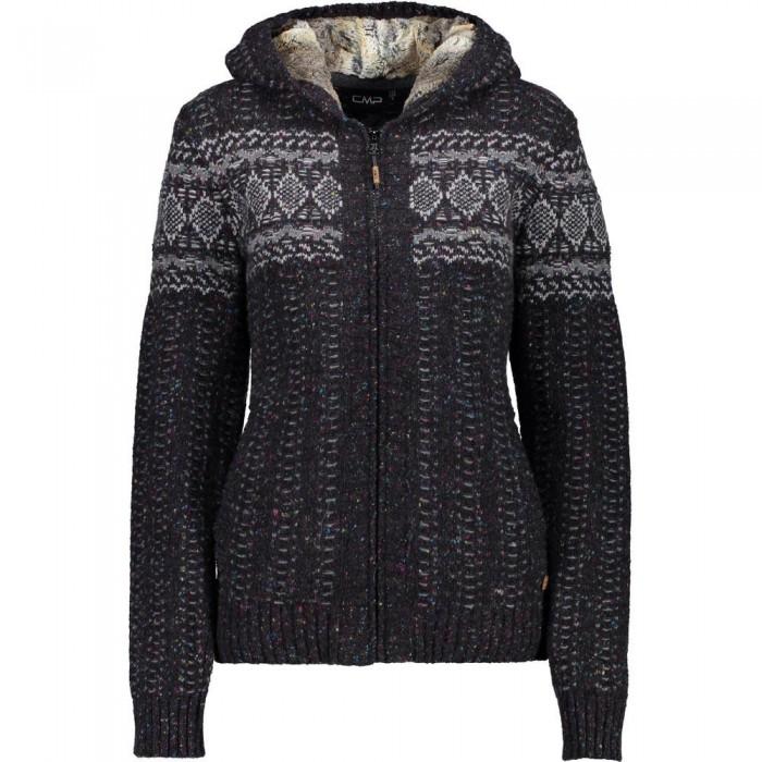 [해외]CMP Knitted Pullover 6136919595 Nero