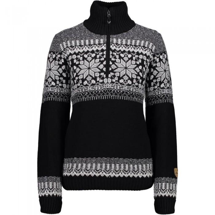 [해외]CMP Knitted Pullover WP 6136919618 Nero