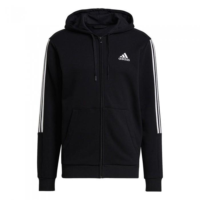 [해외]아디다스 Essentials Fleece Cut 3-Stripes 7137913418 Black / White