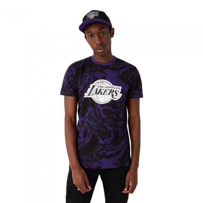 [해외]뉴에라 NBA Oil Slick Aop Los Angeles Lakers Purple