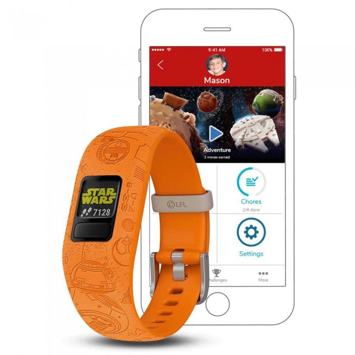 [해외]가민 Vivofit Junior 2 Activity Band 12137335277 Light Side Orange