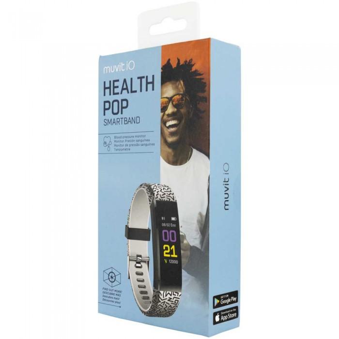 [해외]MUVIT iO Health Pop Activity Band 12137446837 Black / White