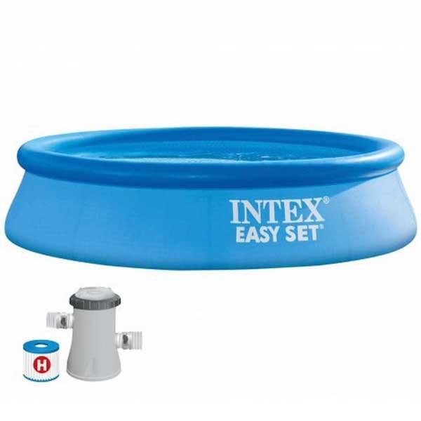 [해외]인텍스 Easy Set With Filter Cartridge Pump 244 x 61 cm 6138073251 Blue