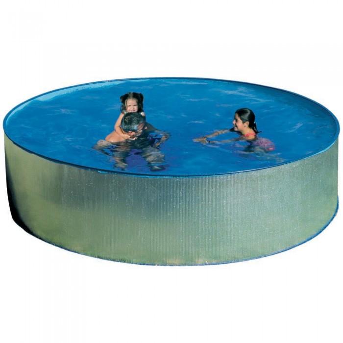 [해외]GRE Tenerife Galvanized Steel Walls Pool 6136447603 Silver / Blue