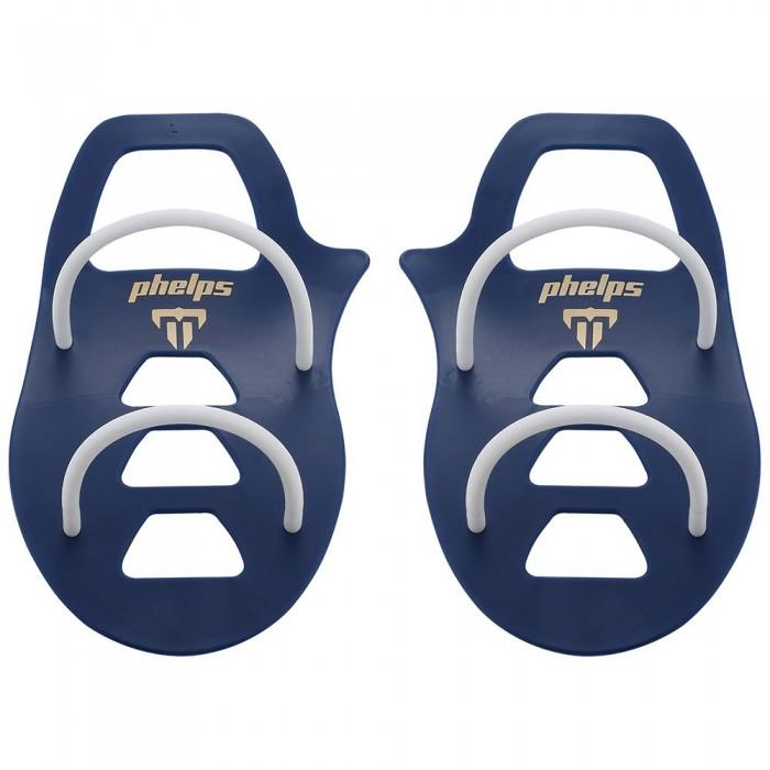 [해외]펠프스 Technique Swimming Paddles 6137941322 Navy Blue / White