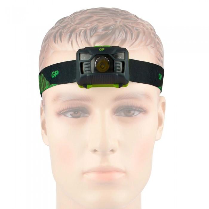 [해외]GP BATTERIES Stirnlampe CH34 3XAAA 6137859290 Black / Green