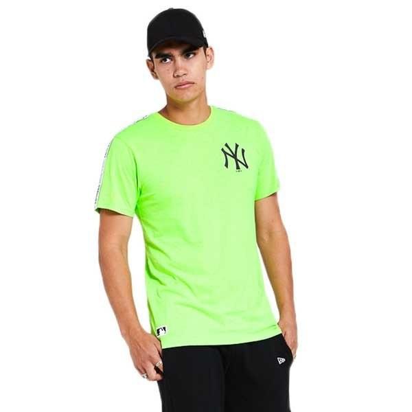 [해외]뉴에라 MLB New York Yankees Taped Short Sleeve T-Shirt 3137703504 Fluo Green